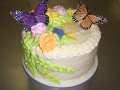 Butterfly Floral Layer Cake