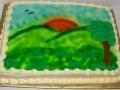 Sunset Scenic Cake
