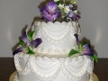 Floral Wedding Tiered Cake