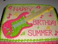Rock and Roll Guitar Cake