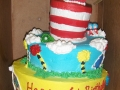 Cat in the Hat Tiered Cake
