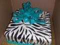 Zebra Turquoise Cake