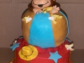 Monkey Cowboy Birthday Tiered Cake