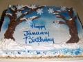 Winter Scene Cake