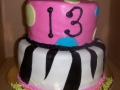 13th Birthday Tiered Cake