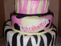 Black White Pink Tiered Cake
