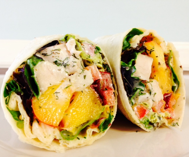 Chicken and Nectarine Wrap