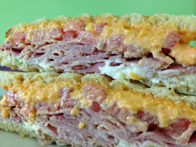 Spicy Pimiento Cheese and Ham Grill