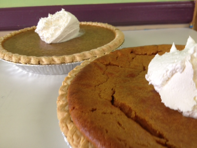 Sweet Potato and Pumpkin Pies