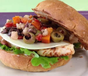 Grilled Chicken Muffuletta