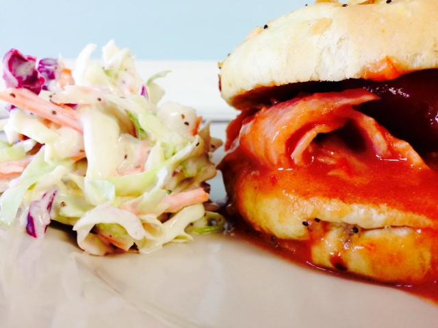 BBQ Mop Ham Sandwich