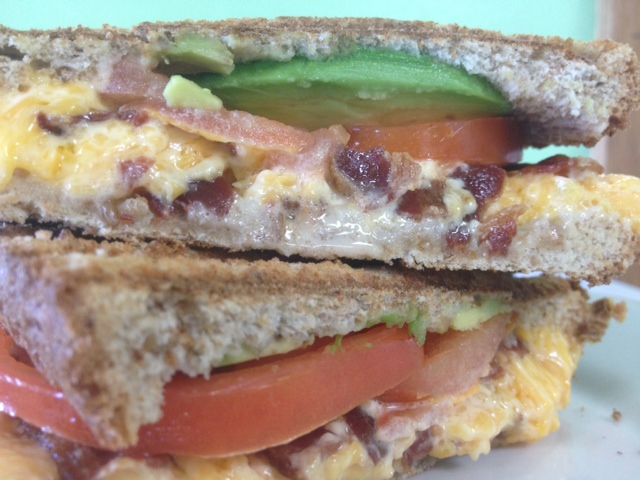 Grilled Cheese With Bacon And Avocado Recipe — Dishmaps