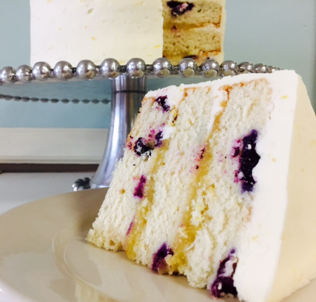 Lemon Blueberry IPA Cake