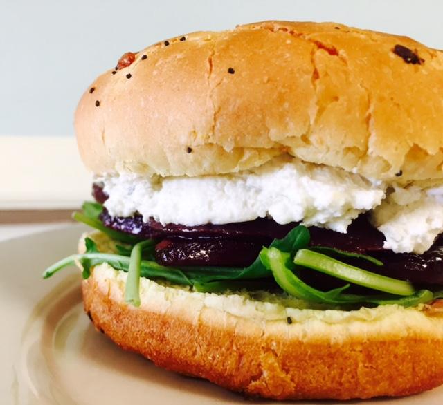 Beet and Turkey Sandwich