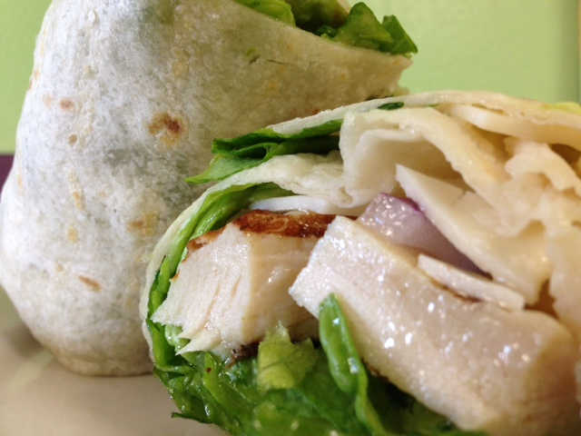 Carribean Chicken Salad Wrap
