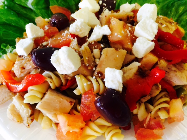 Mediterranean Grilled Chicken Pasta Salad