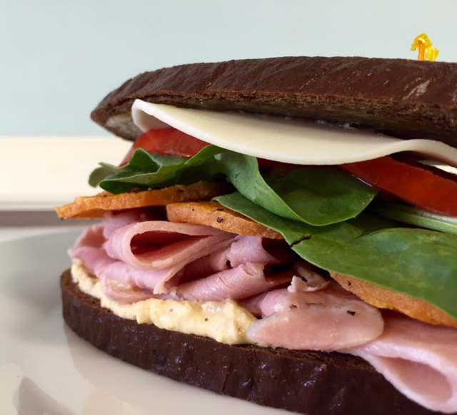 Ham and Spicy Hummus Sandwich