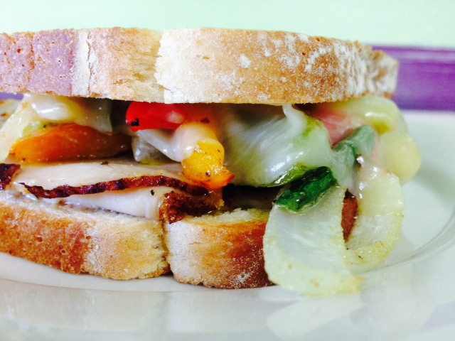 Turkey and Roasted Veggie Sandwich