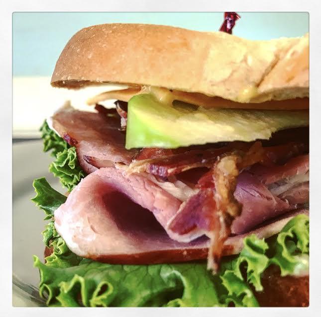 Ham Cheddar and Apple Sandwich