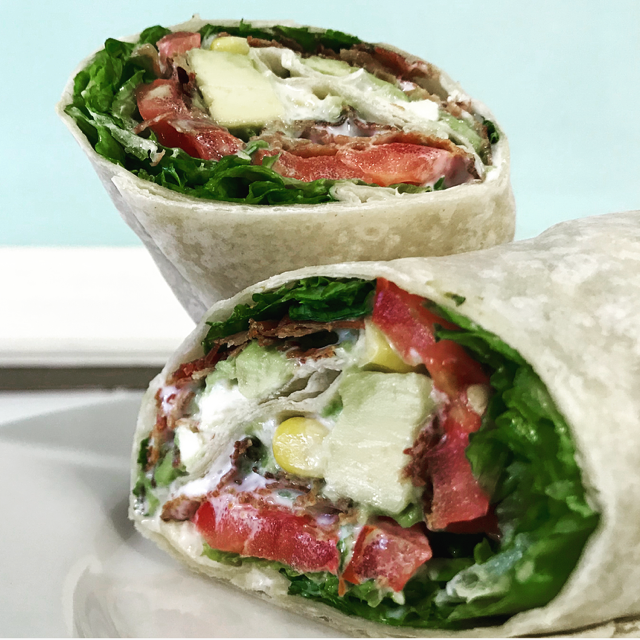 BLT Chopped Salad Wrap
